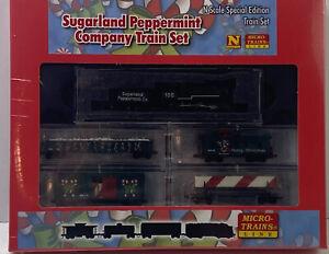 N Scale Microtrains 993 21 130 Sugarland Peppermint Company Train Set 2011 MTL