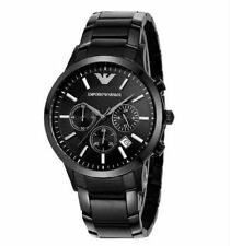 Original Emporio Armani AR2453 Men's Black Chronograph Watch 100% authentic