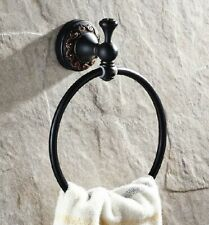 Black Oil Rubbed Brass Towel Ring Wall Mounted Bathroom Towel Rack Holder