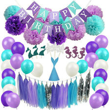 Mermaid Party Supplies Birthday Decorations For Girl's and Baby Birthday Party