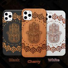 Hamsa Mandala Wood Case iPhone 13/12/11/11 Pro/Max/Mini, X/XR/XS Max