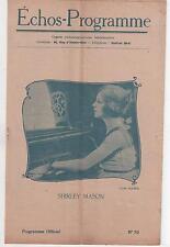 ECHOS-PROGRAMME n°70 Shirley Mason HENRI DEBAIN Le Vertige 1920