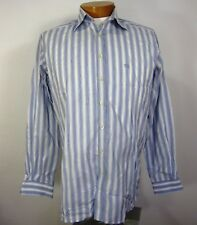BURBERRY LONDON LONG SLEEVE SHIRT SIZE 16 1/2 42  WHITE BLUE STRIPED
