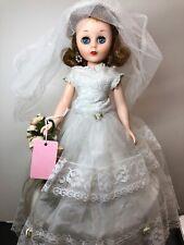 14� Vintage American Character Toni Vinyl Doll All Original Bride Wedding #S