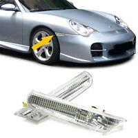 CRYSTAL CLEAR SIDE WING INDICATORS LIGHTS PORSCHE 911 996 CARERRA & 986 BOXSTER