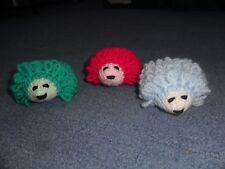 3 MINI HAND KNITTED HEDGEHOGS