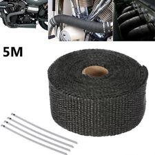 5m High Heat Insulation Aluminium Wrap Exhaust Header Pipe Tape Cloth Silver UK