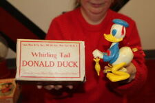 Vintage Marx Whirling Tail Donald Duck Walt Disney Wind Uo Celluloid & Metal Toy