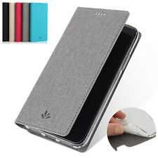 Flip Canvas Leather Stand Wallet Card Slots TPU Cover Case For BlackBerry Key 2