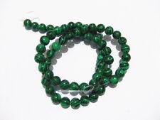 1filo /65pz perline in Malachite sintetica 6 mm bijoux
