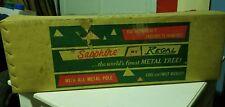 UNUSED Vintage Sapphire by Regal 6-1/2' Metal Aluminum Silver Christmas Tree BOX