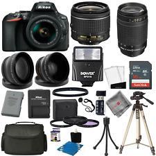 Nikon D5600 DSLR Camera Body + 4 Lens Kit 18-55mm VR + 70-300mm + 16GB Pro Kit