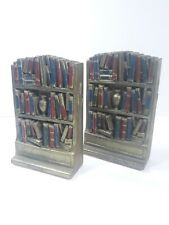 Vintage Syroco Style Bookend -  Bookshelf Filled With Books