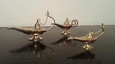 Aladin-Lamp-Genie-Lot-3-Aladdin-Genie-Oil-Brass-Lamps Decorative Set