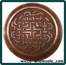 Wooden Celtic Knot Incense Sticks Burner Holder WICCA - Tile - Altar