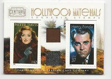 Bette Davis & Henry Fonda 2010 Hollywood Materials Dual Stamp Relic /250