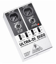 Behringer Ultra-DI DI20 DI Box Sound PA Direct Injection Audio 2CH Splitter