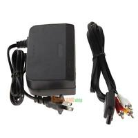 COMBO AC Power Adapter Cord + Audio Video AV Cable for Nintendo 64 System