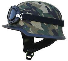 Motorradhelm + Brille Camouflage Gr. XL Tarn Helm Dnepr K750 Ural M72 Stahlhelm
