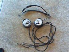 Antique JUNIOR, Leslie H. Moulton Mfg Co. Headphones, Telegraph Radio WWII USA