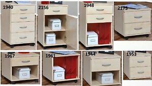 Container Rollcontainer Nachtschrank Kommode Schubcontainer Bürocontainer Ahorn