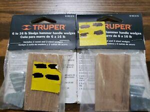 Lot 2 Truper 6-8 Lb Sledge Hammer Wedges