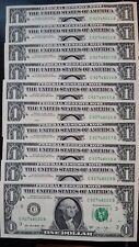 USA $1 Dollar 2013 Rosa Gumataotao Rios 'C' Philadelphia Run of 10 UNC Banknotes