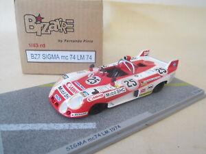 BIZARRE BZ7. 1:43 LM Le Mans 1974 #25 Sigma mc74 Mazda. Terada VN MINT