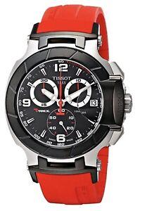 Mens Tissot T048.417.27.057.01 T-Race Men's Watch T0484172705701 Red Rubber