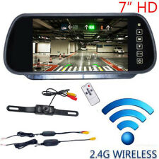 "WIRELESS CAR BUS TRUCK REAR VIEW KIT 7"" LCD MIRROR MONITOR + IR REVERSING CAMERA"