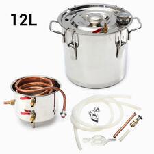 12L 3 GAL DIY Alcohol Ethanol Moonshine Water Copper Stainless Boiler Distiller