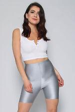 New Ladies Kim Kardashian Inspired High Waist Celeb Cycling Shorts UK Size 8-14