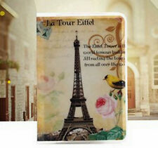 PASSPORT COVER PVC PARIS LA TOUR EIFFEL NEW FREE SHIP FRANCE TRAVEL COVER CLEAR
