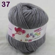 Sale 1ball 50g Baby Cashmere Silk Wool Children hand knitting Yarn 37 Mom Gray