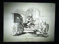Incisione d'allegoria e satira Morte Min. Pellegrino Rossi Don Pirlone 1851
