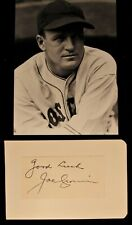 Vintage 1950s Joe Cronin Boston Red Sox Signed and Inscribed Cut