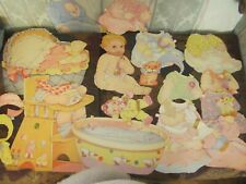 cutout vintage big baby paper doll and  fashions