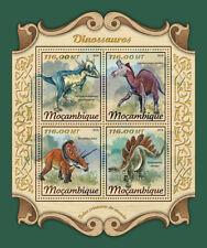 Mozambique 2018 MNH Dinosaurs Stegosaurus Torosaurus Lambeosaurus 4v M/S Stamps