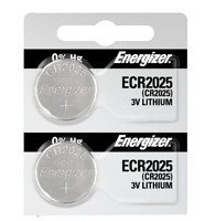 Energizer ECR2025 Lithium (LiMNO2) Coin Cell Battery 2 Pack Tear Strip