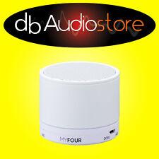 Myfour sk-s12 Speaker Bluetooth Portatile Compatibile con iPhone, Android Bianco