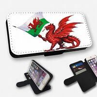 WALES WELSH FLAG DRAGON FLIP PHONE CASE COVER WALLET CARD HOLDER (F)