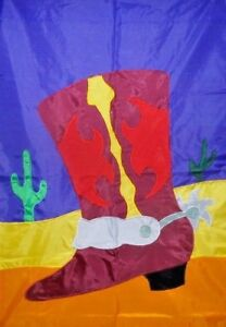 Cowboy Boot Standard House Flag by NCE  Western, Last one. Horse