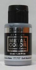 Vallejo Metal Color Dull Aluminium 32ml Water Based Metallic Colour Brand New