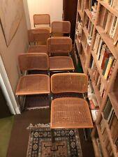 Chaise B32 Cesca Design Marcel Breuer 70 Tube hêtre cannage Knoll Cassina x 6