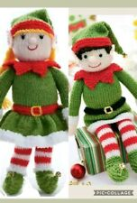 Boy and girl   toy elf Knitting Pattern