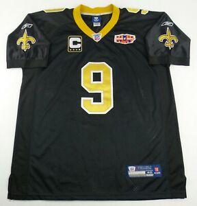 Vintage Reebok New Orleans Saints Drew Brees Football Jersey Size Men's 44
