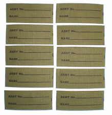 Australian Army Sew in Name Tags Vietnam Era c1960's Pack of 10 NOS