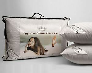 Hotel Quality Egyptian Cotton Luxury Pillows Pack of 2, 4 or 8