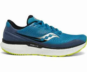 Saucony Triumph 18 Men's Road Running Shoes, Cobalt/Storm