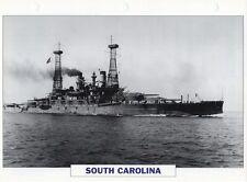1908 USS SOUTH CAROLINA (BB-26) Battleship / Warship Photograph Maxi Card /
